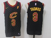 Mens Nba Cleveland Cavaliers #3 Isaiah Thomas Black Stripe Nike Jersey