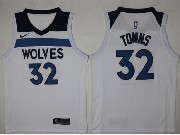 Mens Nba Minnesota Timberwolves #32 Karl-anthony Towns White Nike Jersey