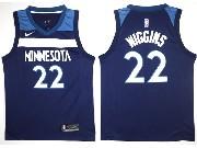 Mens Nba Minnesota Timberwolves #22 Andrew Wiggins Blue Nike Jersey