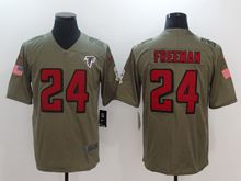 Mens Nfl Atlanta Falcons #24 Devonta Freeman Green Olive Salute To Service Limited Nike Jersey