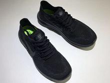 Men Free Run 2017 5.0 Flyknit Sport Wolf Running Shoes Full Black