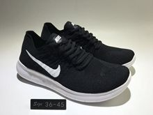 Men Free Run 2017 5.0 Flyknit Sport Wolf Running Shoes Black And White