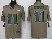 Men Women Youth Nfl Philadelphia Eagles #11 Carson Wentz Green Olive Salute To Service Limited Nike Jersey