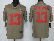 Men Women Youth Nfl New York Giants #13 Odell Beckham Jr Green Olive Salute To Service Limited Nike Jersey