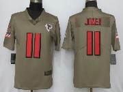 Mens Women Youth Nfl New Nike Atlanta Falcons #11 Julio Jones  Green Olive Salute To Service Limited Nike Jersey