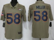 Mens Women Youth Nfl Denver Broncos #58 Von Miller  Green Olive Salute To Service Limited Nike Jersey