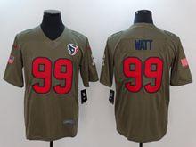 Mens Women Youth Nfl Houston Texans #99 Jj Watt Green Olive Salute To Service Limited Nike Jersey