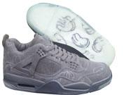 Mens Jordan 4 Basketball Shoes Colour Gray
