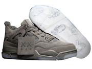 Mens Jordan 4 Kaws X Air Basketball Shoes Gray Clour