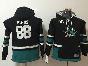 Youth Nhl San Jose Sharks #88 Burns Black Hoodie Jersey