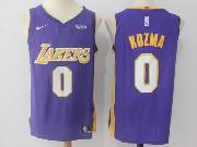 Mens Nba Los Angeles Lakers #0 Kyle Kuzma Pruple Nike Jersey