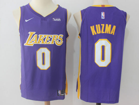 Mens Nba Los Angeles Lakers #0 Kyle Kuzma Pruple Nike Jersey