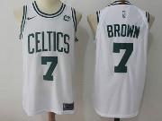 Mens Nba Boston Celtics #7 Jaylen Brown White Nike Jersey