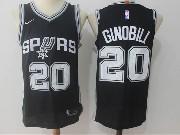 Mens Nba San Antonio Spurs #20 Manu Ginobili Black Nike Jersey