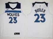 Mens Nba Minnesota Timberwolves #23 Jimmy Butler White Nike Jersey