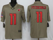 Mens Women Youth Nfl Arizona Cardinals #11 Larry Fitzgerald Green Olive Salute To Service Limited Nike Jersey