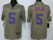 Mens Nfl Buffalo Bills #5 Tyrod Taylor Green Olive Salute To Service Limited Nike Jersey