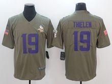 Mens Nfl Minnesota Vikings #19 Adam Thielen Green Olive Salute To Service Limited Nike Jersey