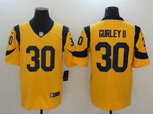 Mens Los Angeles Rams #30 Todd Gurley Ii Gold Vapor Untouchable Limited Jersey