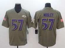 Mens Nfl Baltimore Ravens #57 C.j. Mosley Green Olive Salute To Service Limited Nike Jersey