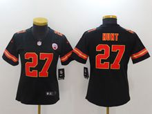 Women Nfl Kansas City Chiefs #27 Kareem Hunt Black Vapor Untouchable Limited Jersey