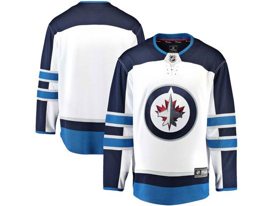 Mens Nhl Winnipeg Jets Blank White Adidas Jersey