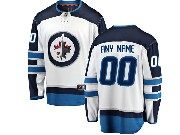 Mens Nhl Winnipeg Jets Custom Made White Adidas Jersey