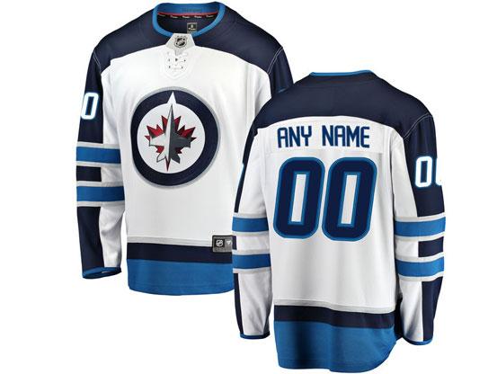 Mens Nhl Winnipeg Jets Custom Made White Adidas Jersey