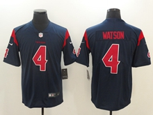 Nfl Houston Texans #4 Deshaun Watson Blue Vapor Untouchable Limited Jersey