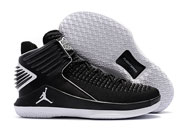 Mens Women Air Jordan 32 Basketball Shoes Black And White Clour