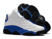 Mens Women Air Jordan 13 Basketball Shoes White And Blue Clour