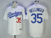 Mens Mlb Los Angeles Dodgers #35 Cody Bellinger White Cool Base Jersey With Team Patch