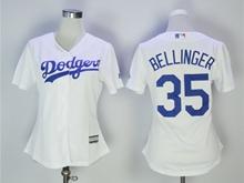 Women  Mlb Los Angeles Dodgers #34 Fernando Valenzuela White Jersey