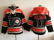Mens Philadelphia Flyers #11 Travis Konecny Black Hoodie Jersey
