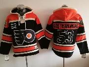 Mens Philadelphia Flyers #53 Shayne Gostisbehere Black Hoodie Jersey