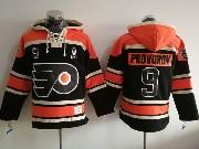 Mens Philadelphia Flyers #9 Ivan Provorov Black Hoodie Jersey