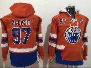 Mens Nhl Edmonton Oilers #97 Connor Mcdavid Orange Pocket Hoodie Jersey