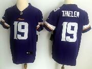 Mens Nfl Minnesota Vikings #19 Adam Thielen Purple Vapor Untouchable Elite Jersey