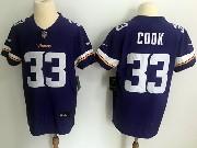 Mens Nfl Minnesota Vikings #33 Dalvin Cook Purple Vapor Untouchable Elite Jersey