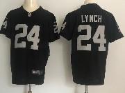 Mens Nfl Oakland Raiders #24 Marshawn Lynch Black Vapor Untouchable Elite Jersey