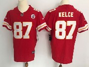 Mens Nfl Kansas City Chiefs #87 Travis Kelce Red Vapor Untouchable Elite Jersey