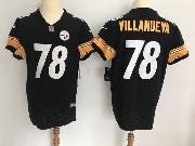 Mens Pittsburgh Steelers #78 Alejandro Villanueva Black Vapor Untouchable Elite Jersey