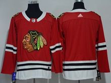 Mens Nhl Chicago Blackhawks Blank Red Adidas Jersey