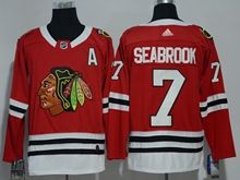 Mens Nhl Chicago Blackhawks #7 Brent Seabrook Red Adidas Jersey