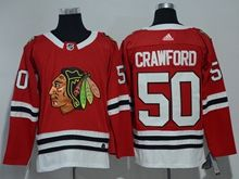 Mens Nhl Chicago Blackhawks #50 Corey Crawford Red Adidas Jersey