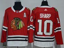 Mens Nhl Chicago Blackhawks #10 Sharp Red Adidas Jersey