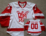 Mens Grand Rapids Griffins Custom Made White Throwback Ahl Ccm Jersey