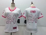 Women Nfl Oakland Raiders #24 Marshawn Lynch White Vapor Untouchable Limited Jersey