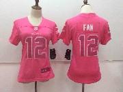Women Nfl Seattle Seahawks #12 Fan Pink Vapor Untouchable Limited Jersey