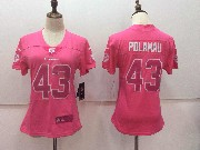 Women Nfl Pittsburgh Steelers #43 Troy Polamalu Pink Vapor Untouchable Limited Jersey